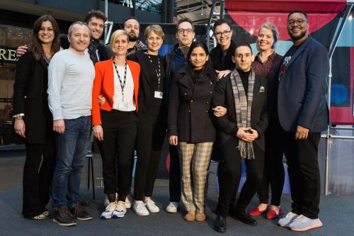 EMBA students with the course team at Fashion Means Business