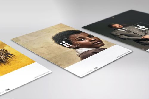 3 magazine front covers for the firm InFocus, laid out on a white surface.