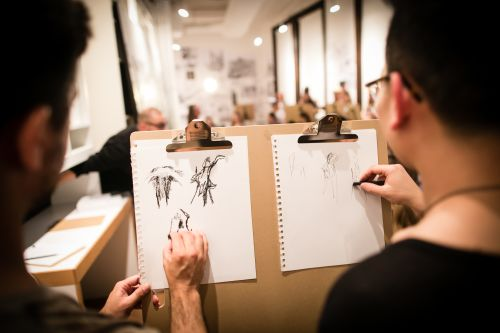Guests drawing