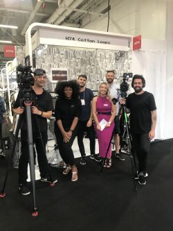 Cotton Loops' designs were show at pure london fashion show