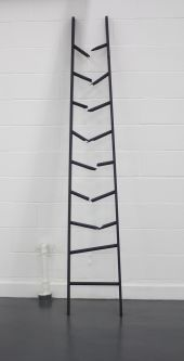 Broken ladder sculpture by Aniano Areco.