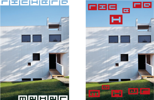 Geometric typeface, student work.