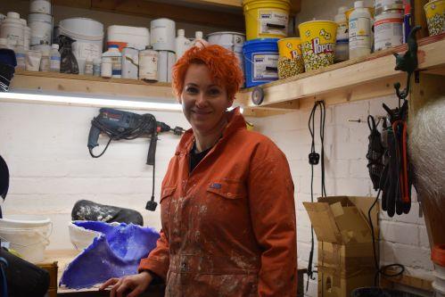 Jennifer in the moulding room