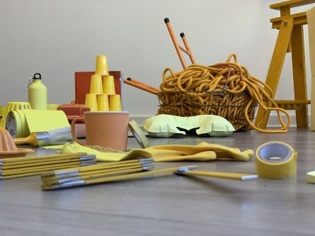 Collection of yellow themed objects