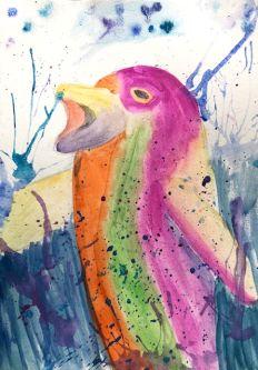 Elizabeth Gemmil's work, Expressive watercolour.