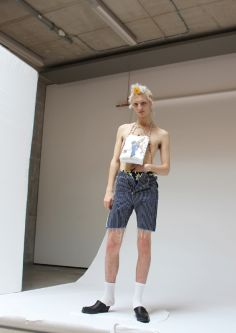 Male model wearing Charles Jeffrey collaboration