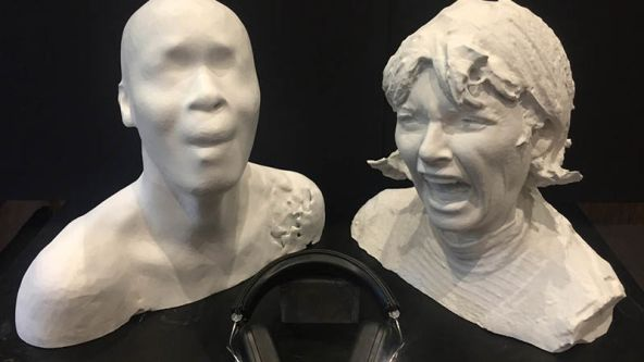 digital 3D images of heads screaming