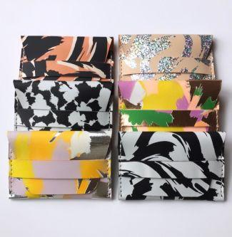 A range of screen-printed accessories by the designer Joanna Vanderpuije