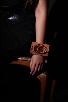 Remake of rolex watch in wood