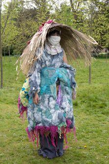 Individual take on Asian infuenced costume.