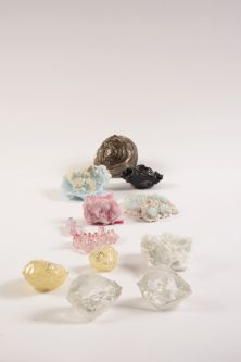 gem stone on white table