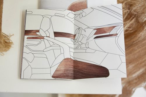 Design work featuring ideas for an automobile interiors by Susanne Schmidt