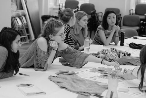 A group of students at a workshop