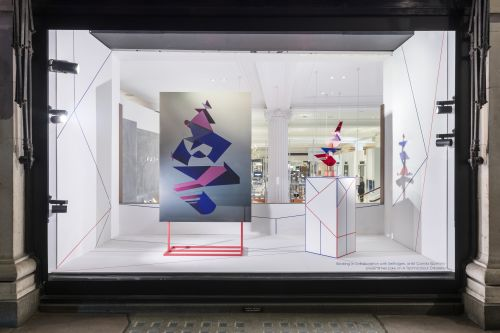 Camila's work in Selfridges' window