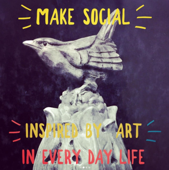 Bird statue that inspired art created for MAKE Social