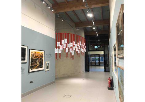 Design for ceramic installation hanging from ceiling in National Memorial Arboretum