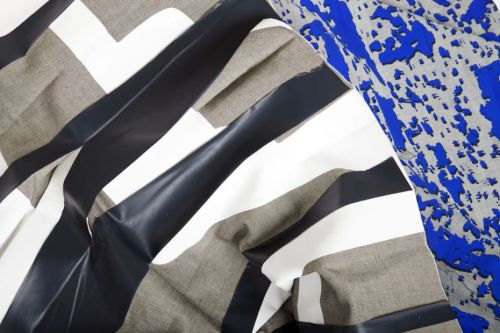 Black brown and blue textile design