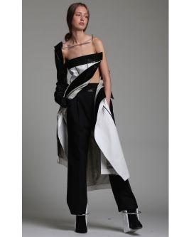 Model wearing designs by Arturo Mendez Obegero