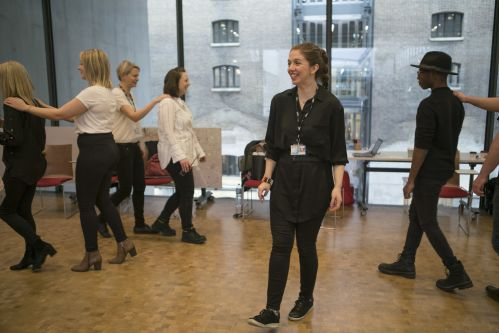 Students taking part in a drama workshop