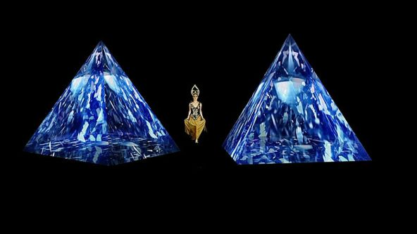 Fashioned Worlds Exhibition - Holographic Fashion Show by Dino Dinoulis