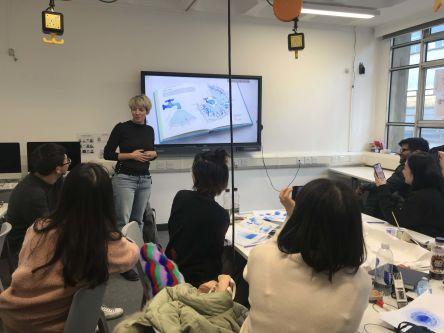 Students in Visual language and metaphor workshop
