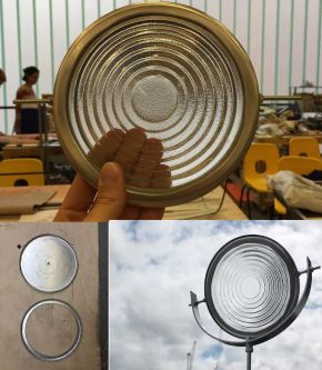Images of the Frensal Lens in the Solar Furnace
