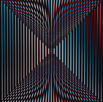 Geometric optical print by Gill Smith.