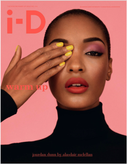 an ID magazine cover with a woman covering her eye