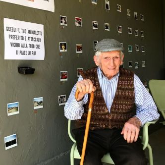 Portrait of old Italian man.