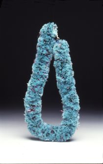 A woolly blue necklace