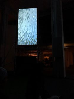 installation at 3 night long event at the Barbican