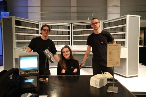 3 students who took part in Science Museum Lates celebrating 150 years of the Periodic Table