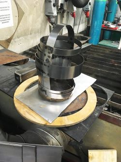 Head piece, work in progress, by Michael Eden upon the Practical Metalwork Workshop course.