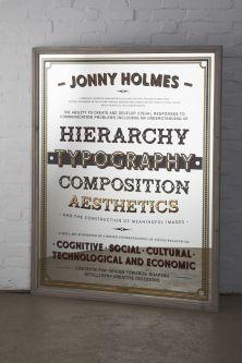 Typographic mirror by Jonny Holmes.