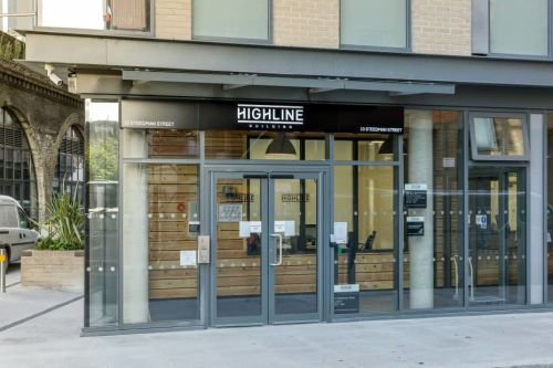 Photo of the exterior of the Highline Building