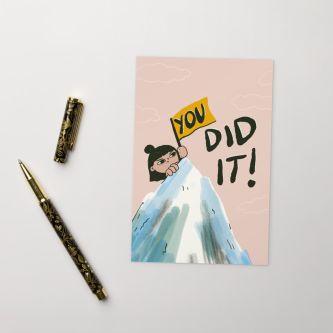 You Did It! Postcard : mini print.jpg