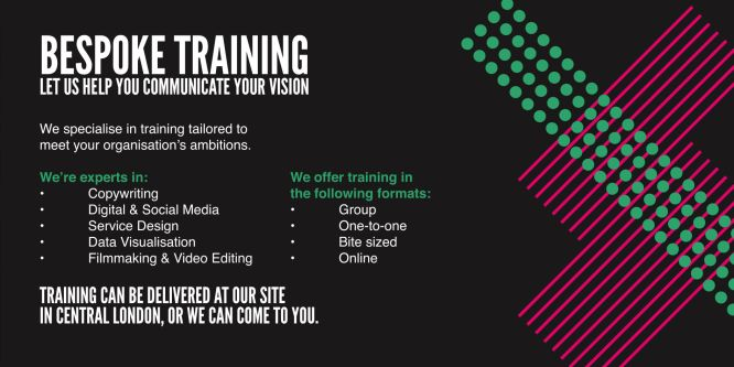 Bespoke training promo with logo