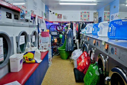 A laundrette installation