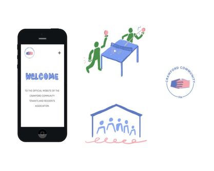 Website illustrated design for Crawford TRA