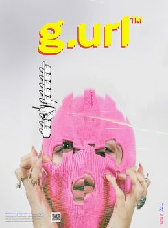 Poster cover showing pixelated face wearing pink balaclava.