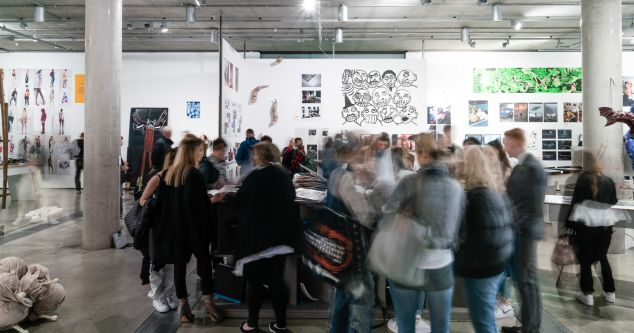 People milling around gallery