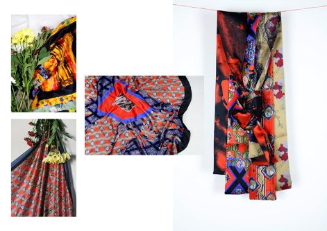 Collage of Fabric photos