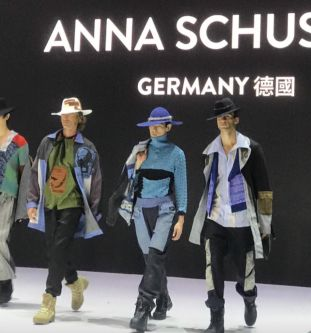 Anna Schuster's collection on the runway