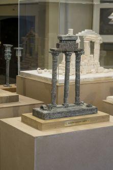close up of sculpture of columns