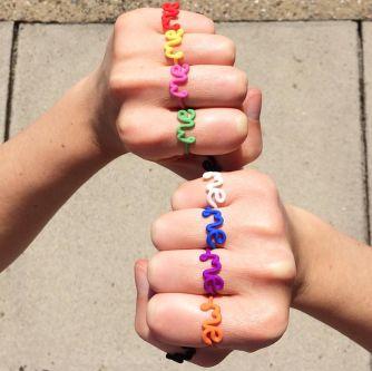 Me rings by Zoe Sherwood