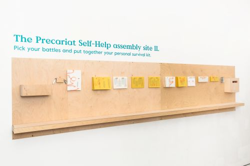 Display of objects within the Precariat Self Help Assembly Site