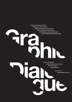 Black and white poster featuring minimalist design and type.
