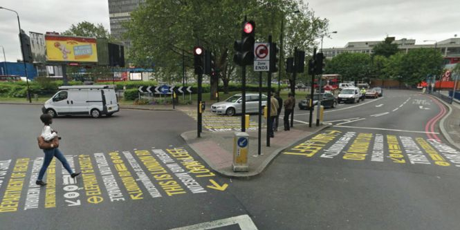Zebra crossings in Elephant and Castle