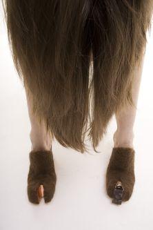 Shoes shaped like hoofs
