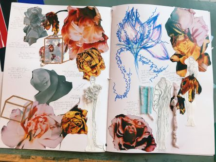 Emma's sketchbook during Summer Study Abroad